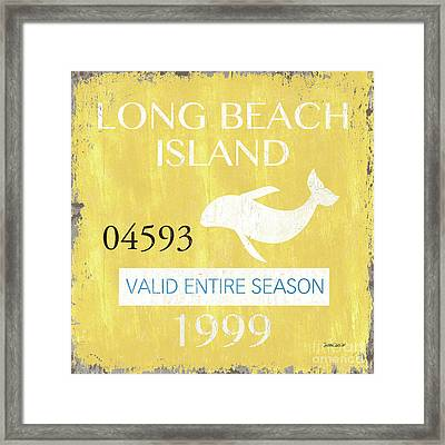 Beach Badge Long Beach Island 2 Framed Print by Debbie DeWitt