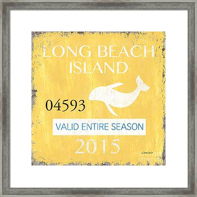 Beach Badge Long Beach Island Framed Print