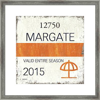 Beach Badge Margate Framed Print by Debbie DeWitt