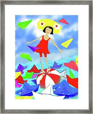 Balance Framed Print by Flower Water Heaven
