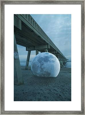 Beach Ball Framed Print by Betsy Knapp
