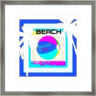 Beach Ball Framed Print by Shanhan Truitt-Roos
