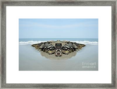 Beach Barrier Framed Print