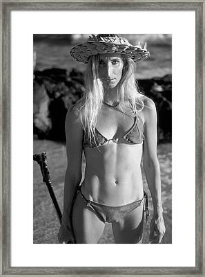 Beach Beauty. Framed Print by Sean Davey