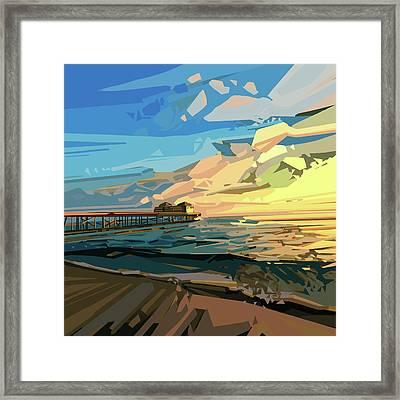 Beach Framed Print by Bekim Art