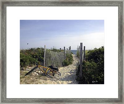 Beach Bicycle Rest Framed Print