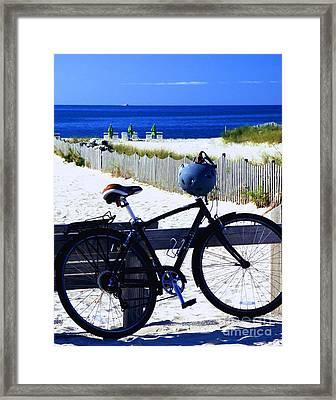 Beach Bike Framed Print