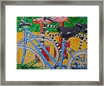 Beach Bikes  Framed Print