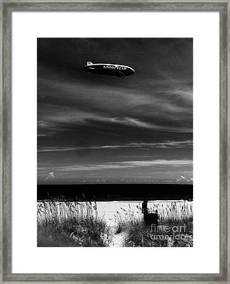 Beach Blimp Framed Print by WaLdEmAr BoRrErO