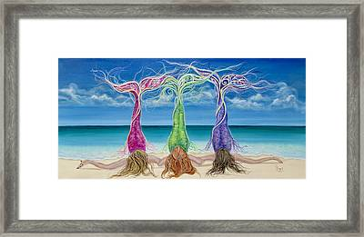 Beach Bliss Buddies Framed Print by Angel Fritz