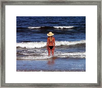 Beach Blonde - Digital Art Framed Print by Al Powell Photography USA