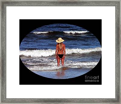 Framed Print featuring the photograph Beach Blonde .png by Al Powell Photography USA