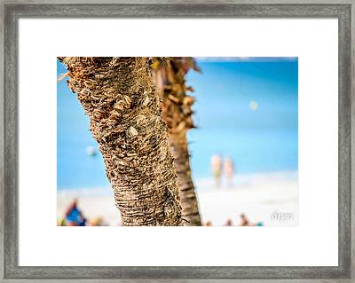 Beach Blue Framed Print