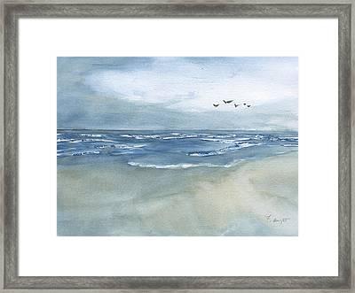 Beach Blue Framed Print by Frank Bright