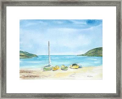 Beach Boats Framed Print