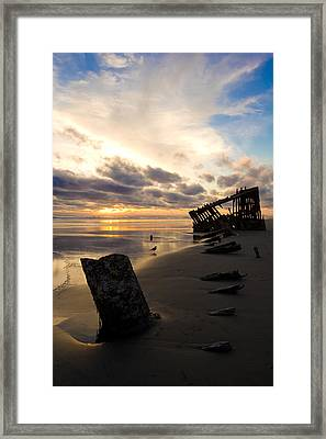 Beach Bones Framed Print by Jennifer  Owen