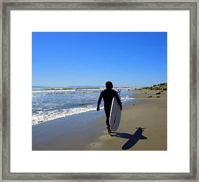 Beach Boy 1 Framed Print by Robin Hernandez