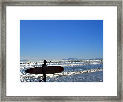 Beach Boy 2 Framed Print by Robin Hernandez