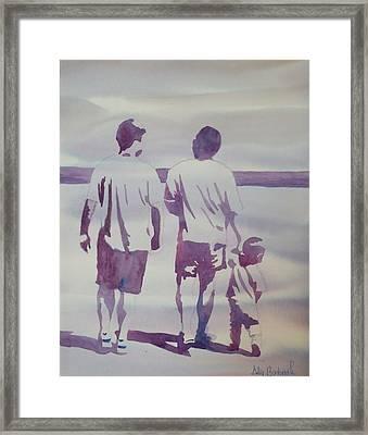 Beach Boys Framed Print by Ally Benbrook