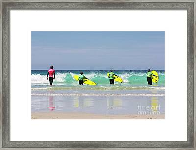 Framed Print featuring the photograph Beach Boys Go Surfing by Terri Waters