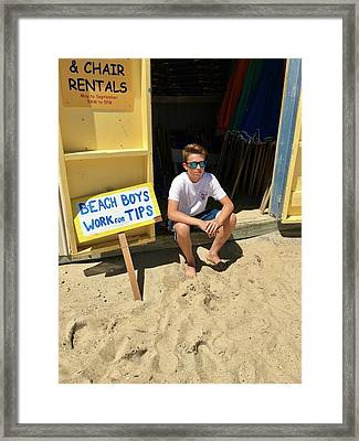 Beach Boys Work For Tips Framed Print