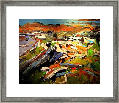 Beach Framed Print by Brian Simons