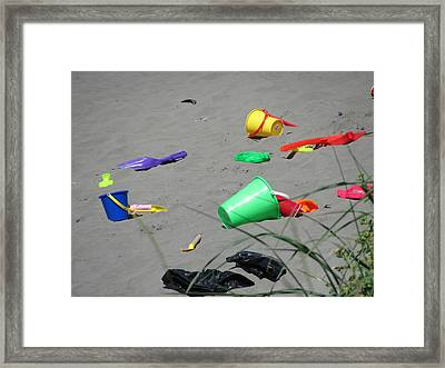 Beach Buckets Framed Print by Gregory Smith