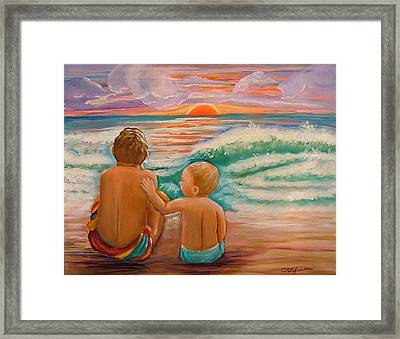 Beach Buddies Framed Print