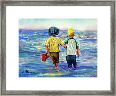 Beach Buddies Framed Print by Loretta Luglio