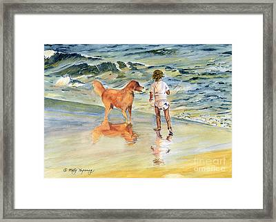 Beach Buddies Framed Print by Melly Terpening