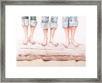 Beach Bums Framed Print