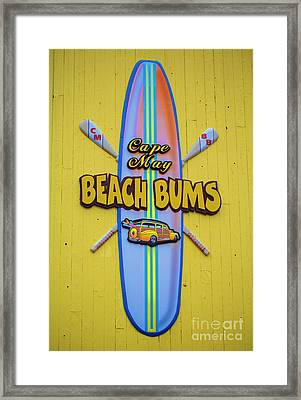 Beach Bums - Cape May Framed Print by Marco Crupi