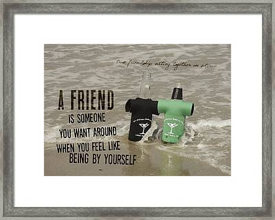 Beach Bums Quote Framed Print by JAMART Photography