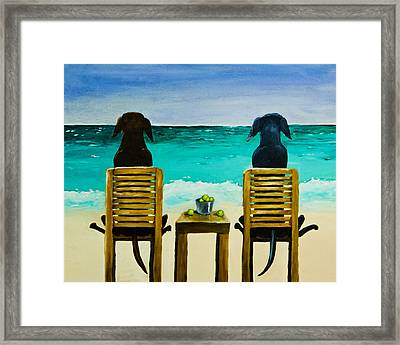 Beach Bums Framed Print