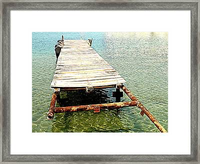 The Old Pier Is Still There, Waiting For You To Come  Framed Print
