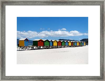 Beach Cabins  Framed Print