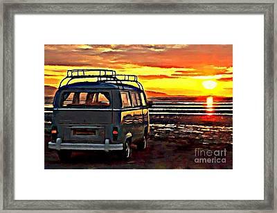 Beach Camper Framed Print by S Poulton