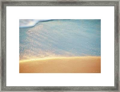 Beach Caress Framed Print