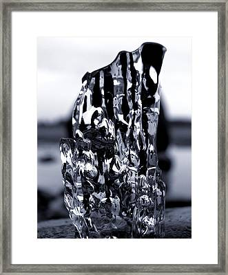 Framed Print featuring the photograph Beach Chair 2 Bw by Sami Tiainen