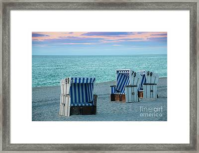 Beach Chair At Sylt, Germany Framed Print