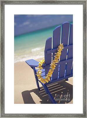 Beach Chair Framed Print by Dana Edmunds - Printscapes