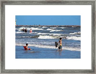 Beach Chair Framed Print by Eric Smith