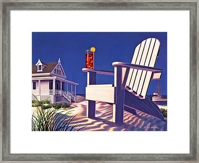 Beach Chair  Framed Print by Robin Moline