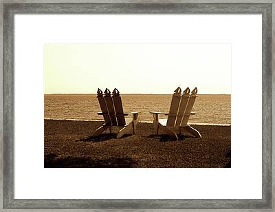 Beach Chairs 2 Framed Print by Alan Hausenflock