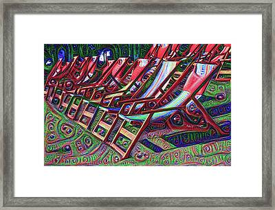 Beach Chairs Framed Print by Bill Cannon