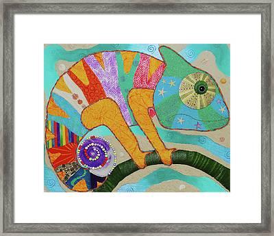 Beach Chameleon Framed Print