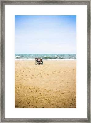 Beach Closed Framed Print by Colleen Kammerer