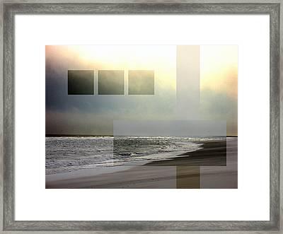Beach Collage 2 Framed Print by Steve Karol