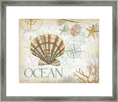 Beach Collage B Framed Print by Grace Pullen