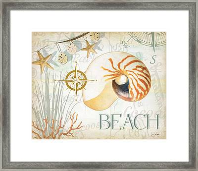 Beach Collage Framed Print by Grace Pullen